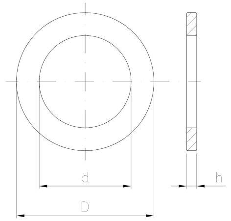 INOX Podkładka okrągła zgrubna