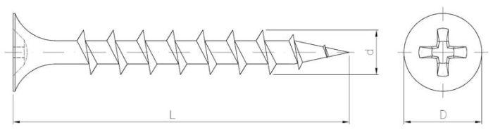 Wkręt do płyt kartonowo-gipsowych do konstrukcji drewnianych