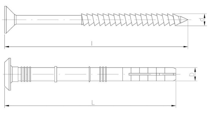 Kołek szybkiego montażu z kołnierzem grzybkowym z gwoździowkrętem Collar EasyFix