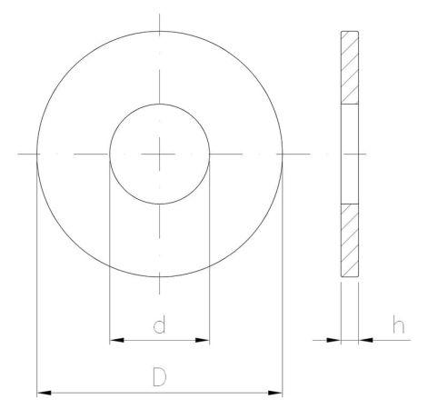 Podkładka okrągła zgrubna powiększona