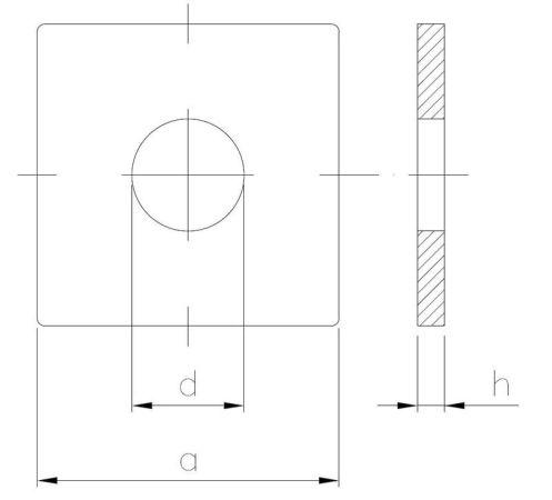 Podkładka kwadratowa do konstrukcji drewnianych