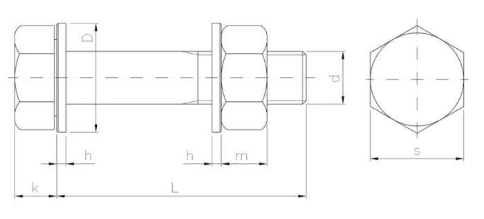Zestaw śrubowy do połączeń sprężanych HV