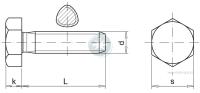 Śruba samoformująca z łbem 6-kątnym