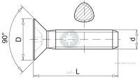 Wkręt samoformujący z łbem stożkowym