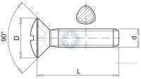 Wkręt samoformujący z łbem stożkowo soczewkowym