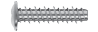 Wkręt do tworzyw sztucznych z łbem podkładkowym z gwintem HILO z wprowadzeniem