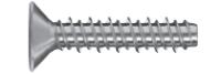 Wkręt do tworzyw sztucznych z łbem stożkowym z gwintem HILO z wprowadzeniem
