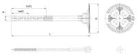 Łącznik do mocowania termoizolacji z trzpieniem metalowym zalanym Isotherm FIX
