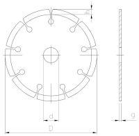 Tarcza diamentowa - brzeg segmentowy do cięcia na mokro i sucho