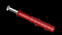 Kołek do szybkiego montażu z kołnierzem lejkowym z gwoździowkrętem wbijanym Hammer Plug